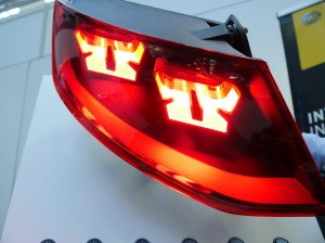 Audi flexible OLED taillight prototype R2D2